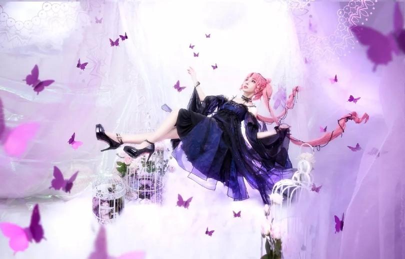 高水准COS美少女战士 黑暗小姐,惊艳的小公主