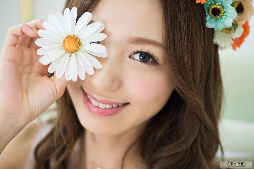 [graphis gals]无圣光高清图集: Aino Kishi 希志あいの,鲜花衣美人