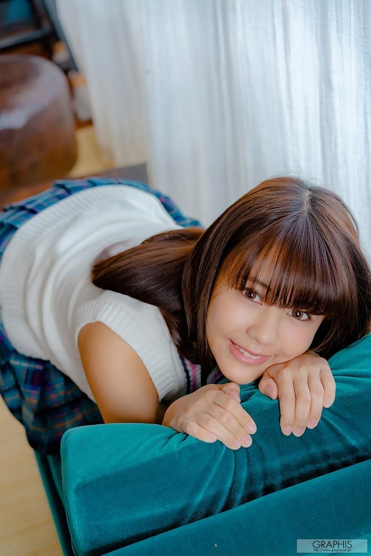 [graphis gals]无圣光高清图集: Yumi Shion 夕美しおん:学生制服娃娃脸