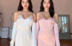 台湾双胞胎姐妹花:LingHan韩令渝和妹妹韩沁渝,欧派甜心带点辣