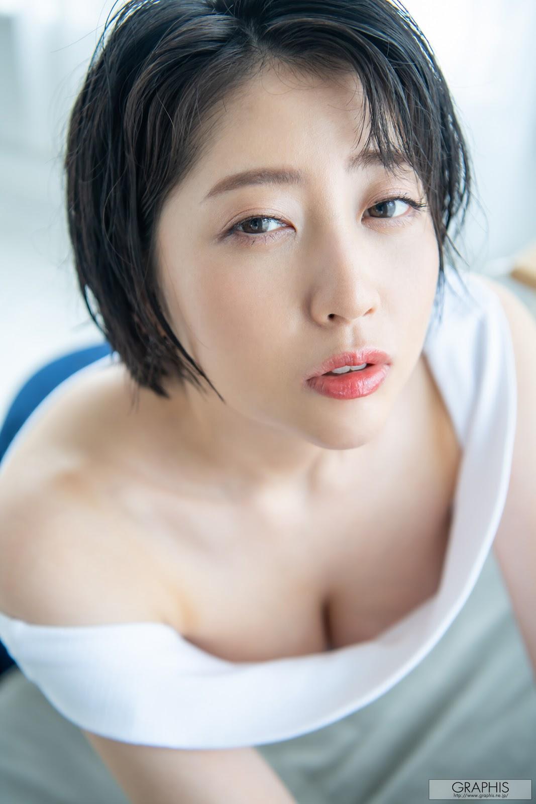 [graphis gals]无圣光高清图集: Hibiki Natsume 夏目響, 精致短发妹